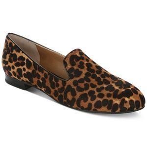 Tahari Leopard Cow Hair Foley Loafers